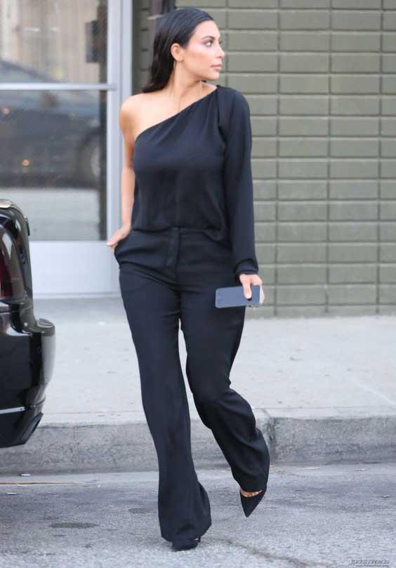 Ким Кардашьян, брюки для стройности