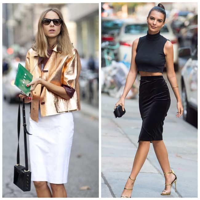Модные варианты юбки-карандаш