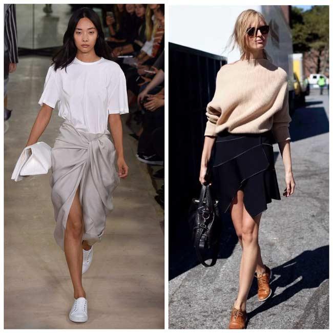 Асимметричные юбки 2017