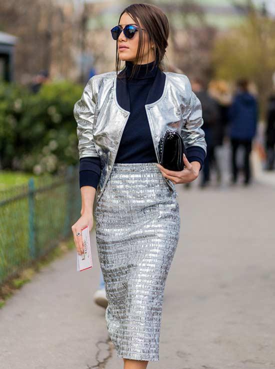 Тренд 2017 металлический блеск одежды