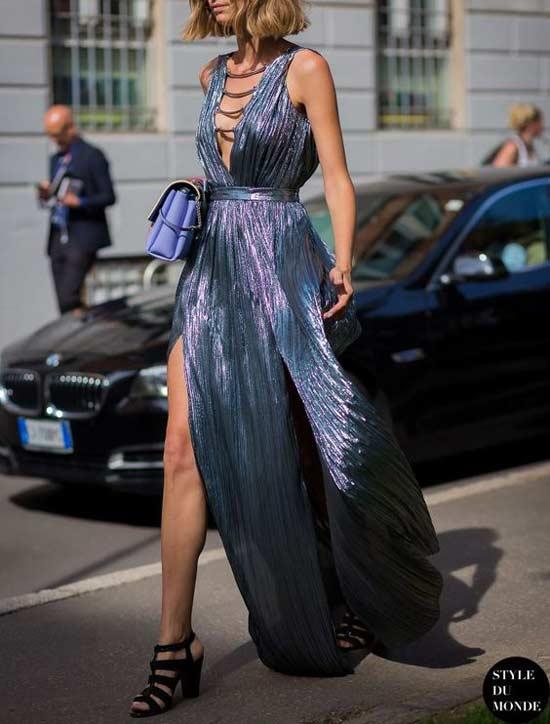 Metal длинное платье