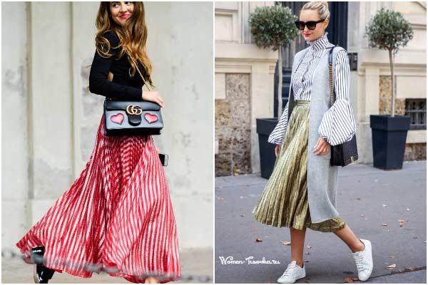 Мода на плиссе: 10 самых модных сочетаний с юбкой плиссе