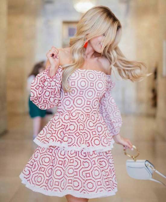 Открытые плечи - платье
