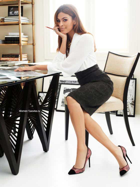 Офисный стиль- модная юбка карандаш