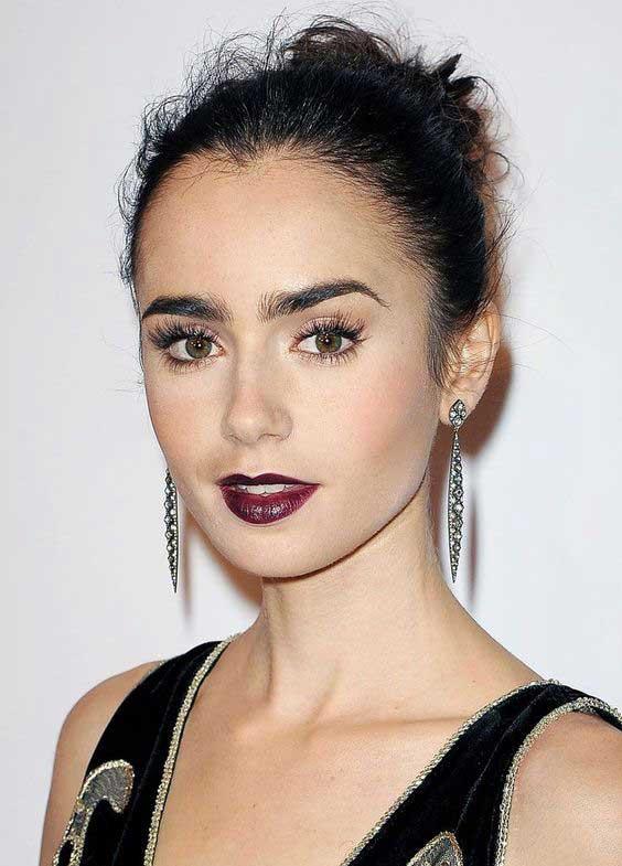 Dark Lipstick Celebrity