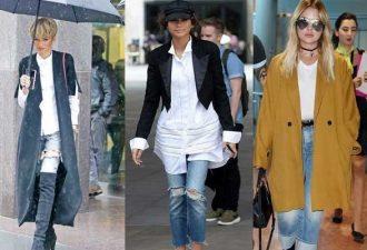 С чем модно носить джинсы осенью