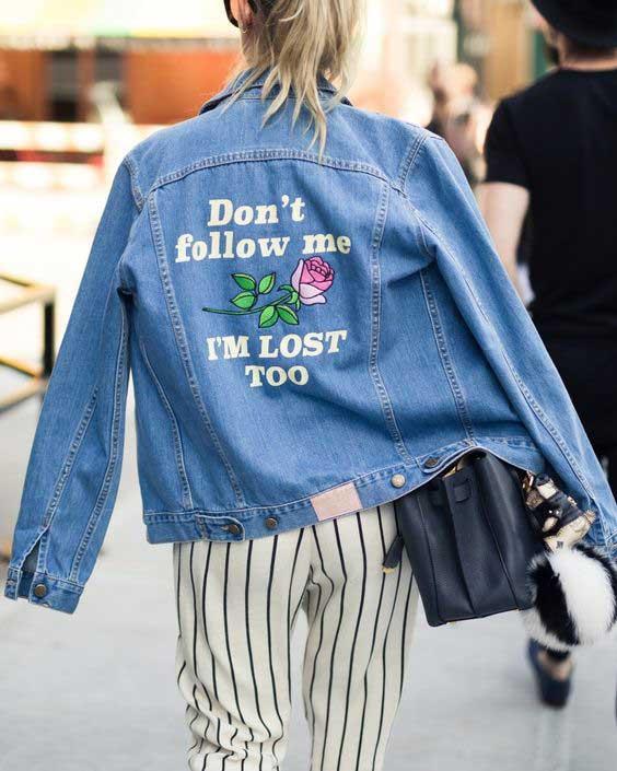 Модная куртка с вышивкой