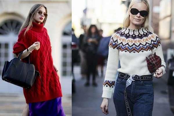 Как носить свитер весной 2018
