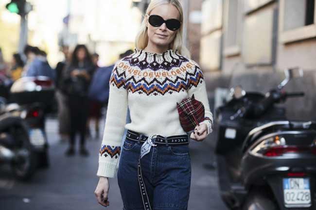 Модный свитер на весну 2018