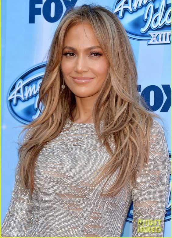 Jennifer Lopez стрижка на длинные волосы