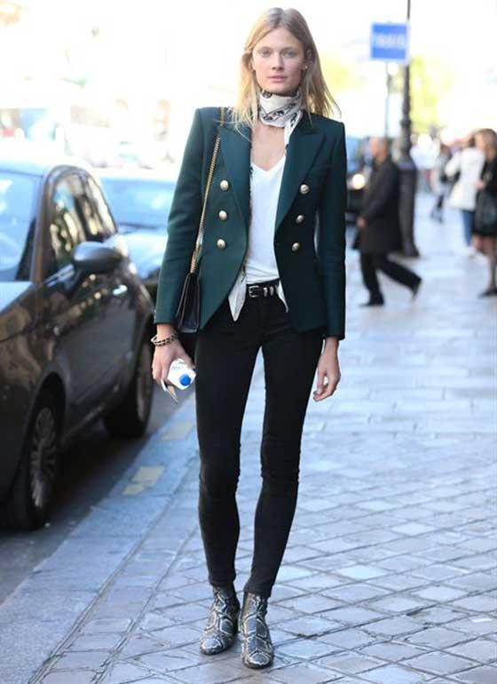 Образ с джинсами-скинни