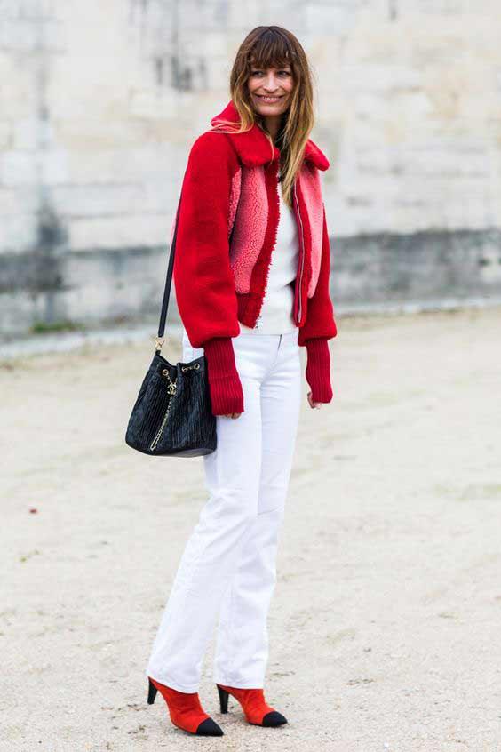 Как носить красный цвет