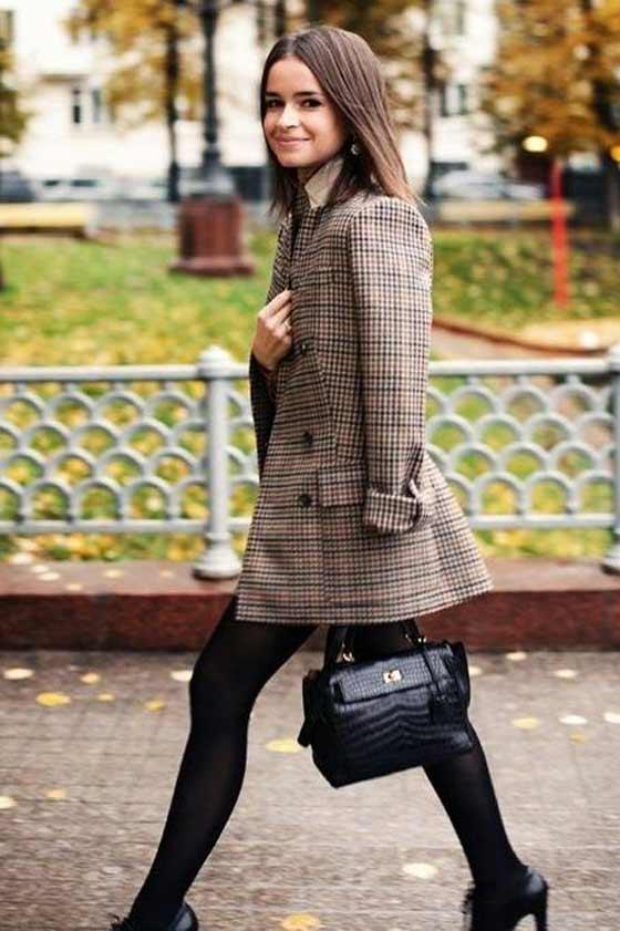 Плотные колготки + пиджак