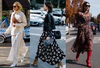 Сочетание летней одежды с осенней