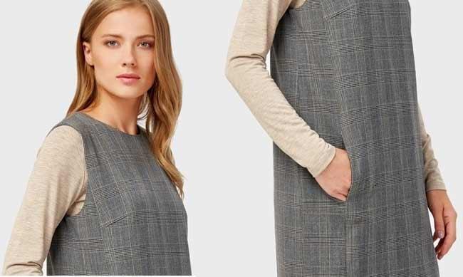Платье на осень без рукавов