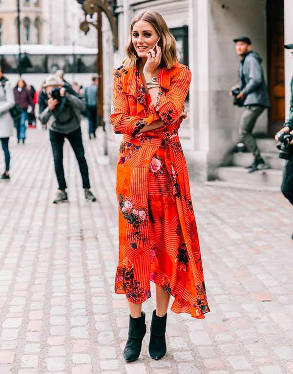 Модное платье на осень длины мини