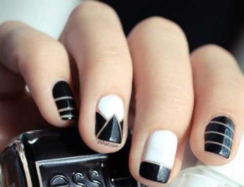 Черно-белый дизайн в стиле шанель