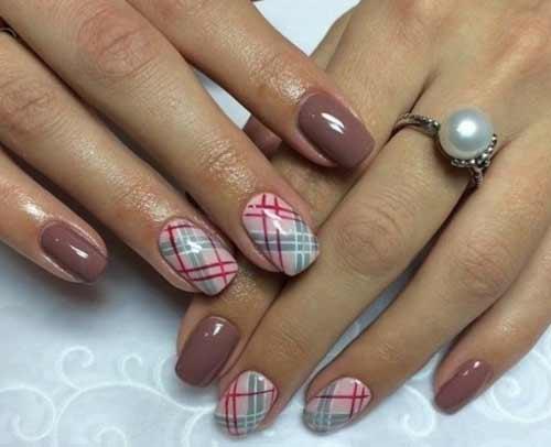 Геометрический рисунок для коротких ногтей