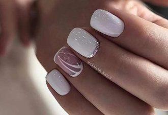 Короткие ногти дизайн 2018