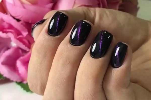 Дизайн хамелеон короткие ногти