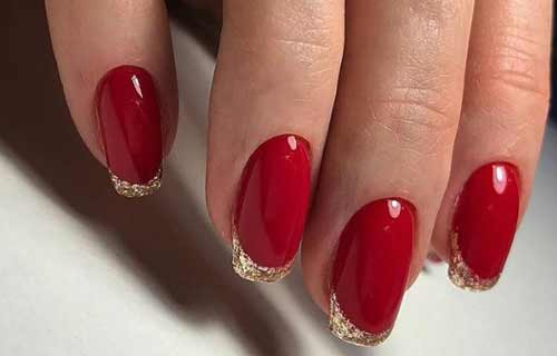 Красный + золотой френч