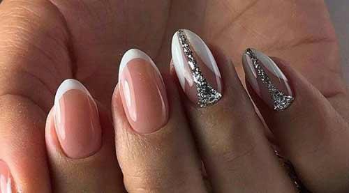 Френч для коротких ногтей