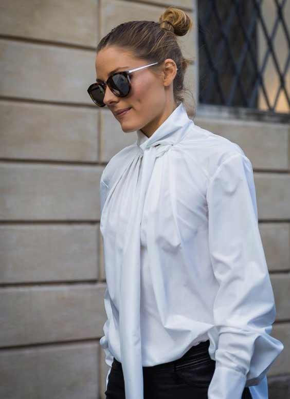 С чем интересно сочетать белую блузу