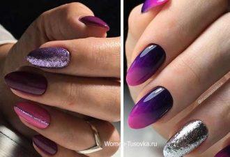 Идеи маникюра в ультрафиолетовом цвете