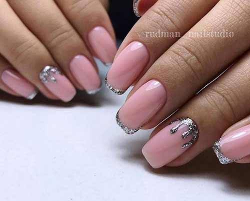 Нюдовое розовое покрытие