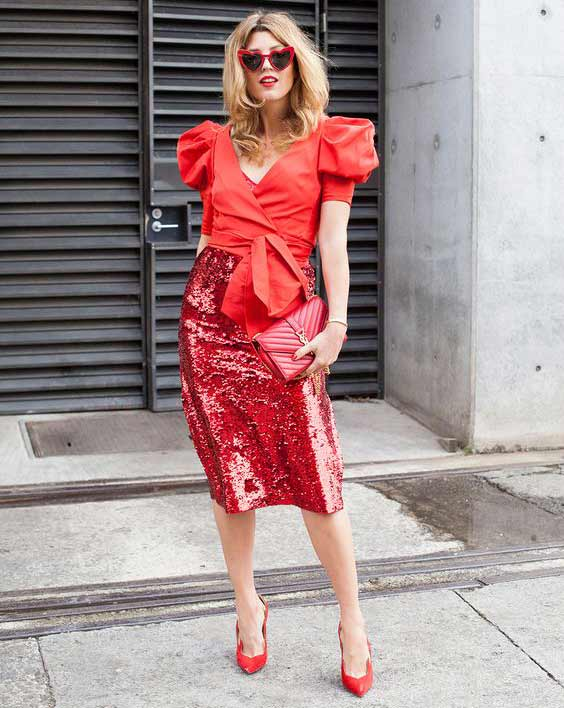 Нарядная юбка с пайетками