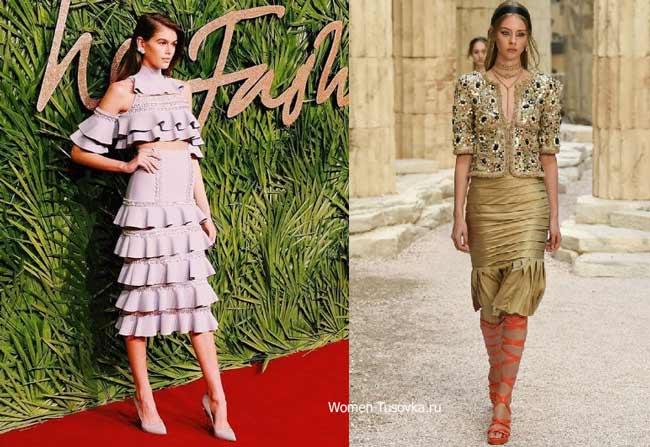 Новинки юбок коллекция Chanel Resort 2018