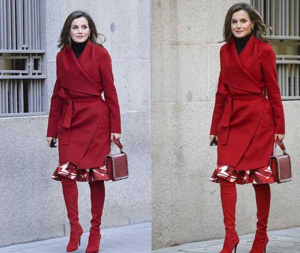 Тотальный красный цвет в образе пример