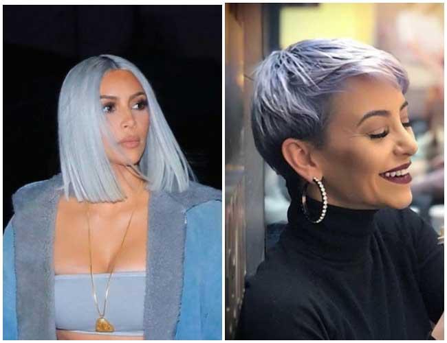 Голубой блонд 2018 - тренд