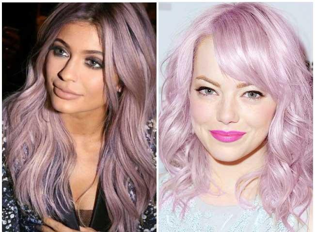 Лилово-фиолетовый оттенок на волосах 2018