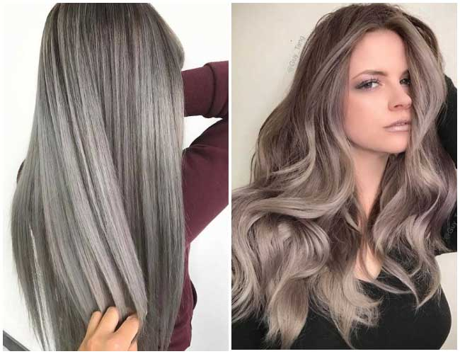 Темно-серый оттенок на волосах 2018