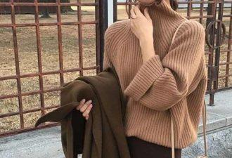 Как выглядеть стройнее в свитере оверсайз