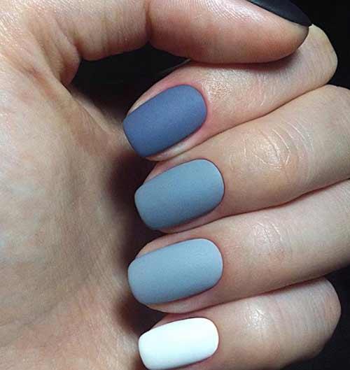 Три цвета в одном дизайне короткие ногти