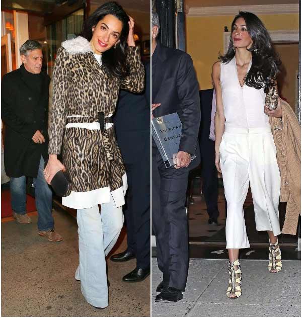 Джинсы и леопард - образы Амаль Клуни