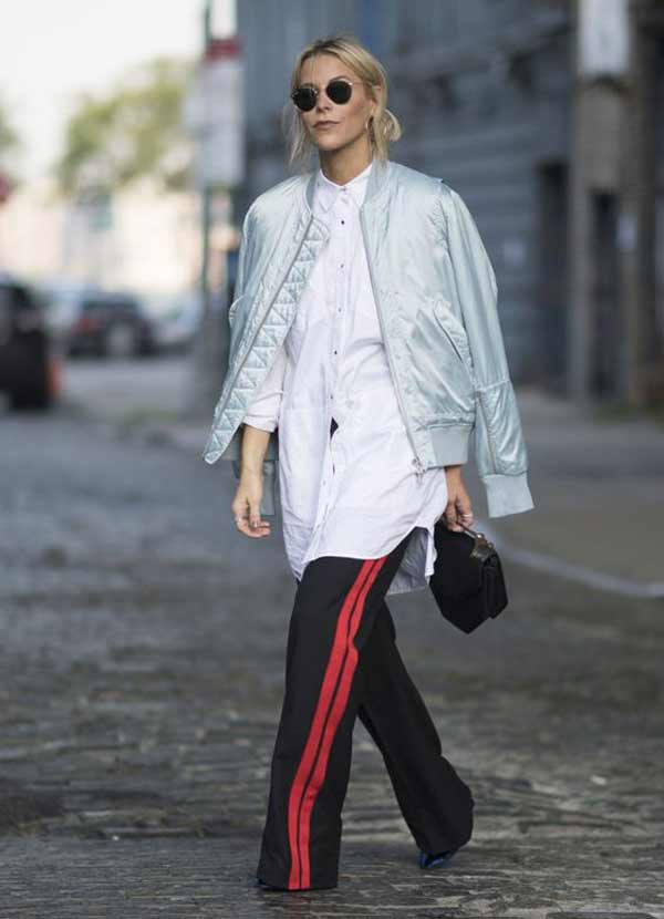 Белая рубашка + брюки с лампасами