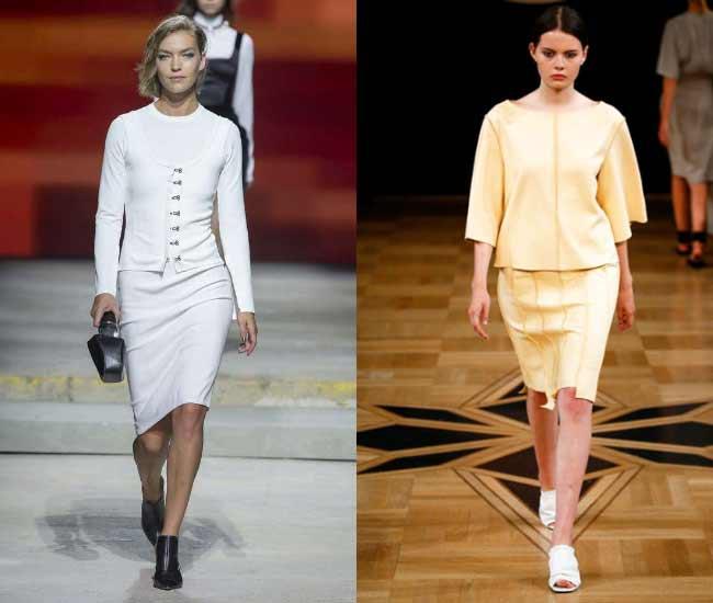 Модная юбка-карандаш для полных женщин