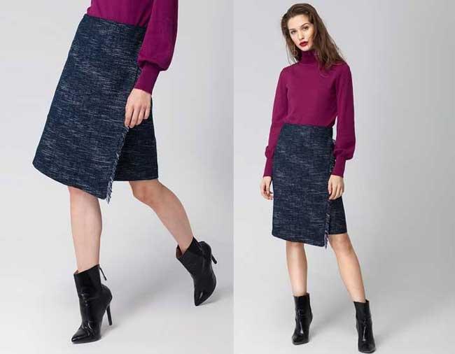 Асимметричная юбка: самые стильные и модные модели