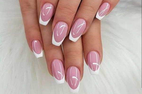 Розоватый френч