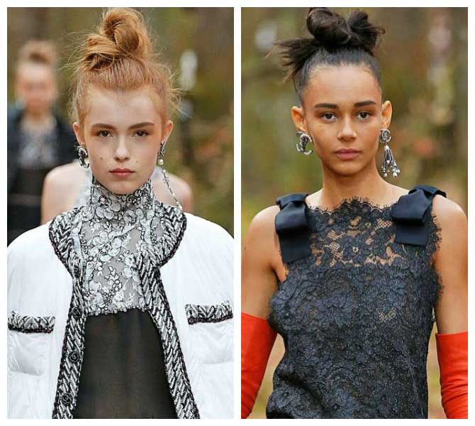 Укладка модная Chanel F/W '18.