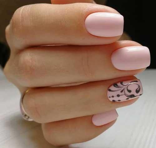 Рисунок на одном ногте