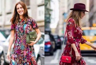 С чем носить платье в цветочек, чтобы не выглядеть старомодно фото и образы