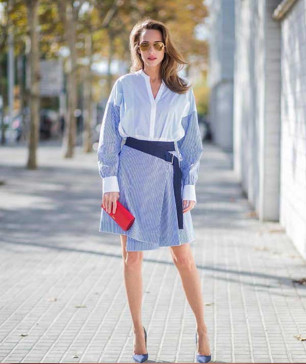 Модная юбка А-силуэт