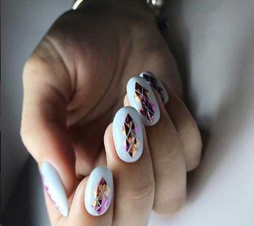 3D эффект на ногтях 2018