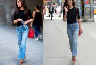 Укороченные джинсы модная модель 2018
