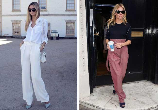 Широкие брюки с чем носить летом