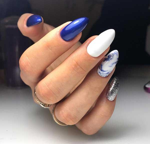 Эффект натуральных камней - ногти